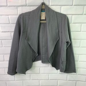 Dolan Left Coast grey ribbed cardigan blazer L